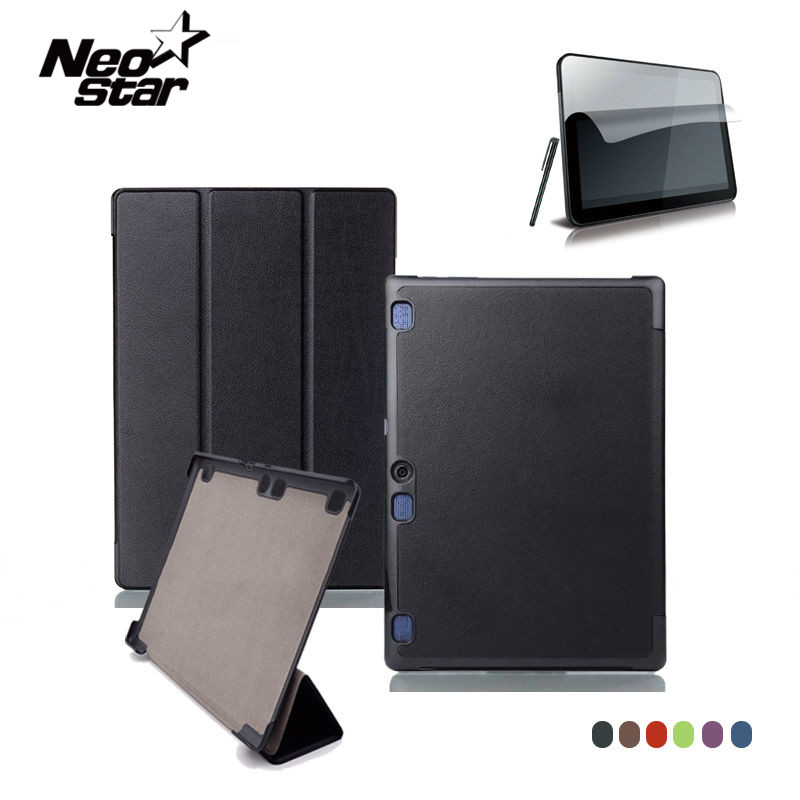 For Lenovo Tab 2 A10 70F Leather Case Cover For Tab2 A10-70 70 A10-70F A10-70L A10-30 X30F Tablet 10.1'' Screen Protector + Pen планшет lenovo tab 2 a10 70l