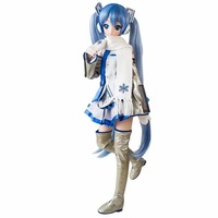 61cm Big Size Anime Figure Hatsune Miku DD Volks Snow Miku Movable Really Cloth Gown Ver PVC Action Figure Collectible Model Toy
