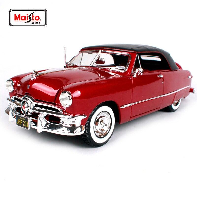 Maisto 1:18 1950 Ford ancienne voiture modèle moulé sous pression modèle voiture jouet nouveau dans la boîte livraison gratuite 31681-in Jouets véhicules from Jeux et loisirs    1
