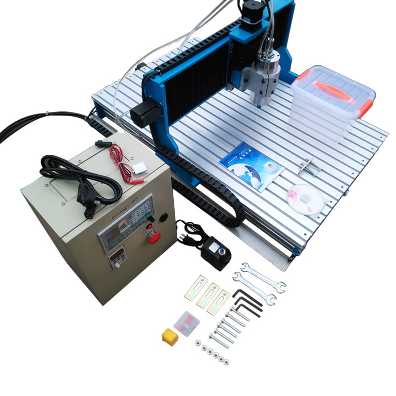 Offline DSP control system 4axis metal cnc milling machine Linear Guide Rail metal engraver 6090 3axis wood engraving machine ly cnc router 6090 l 1 5kw 4 axis linear guide rail cnc engraving machine for woodworking