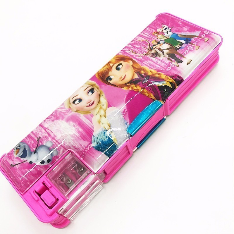 Multifunctional stationery / children pencil case primary school supplies kindergarten boys and girls plastic cute pencil case new shop 220904 primary school students pencils female disney ice and snow children cute box simple large capacity pencil case