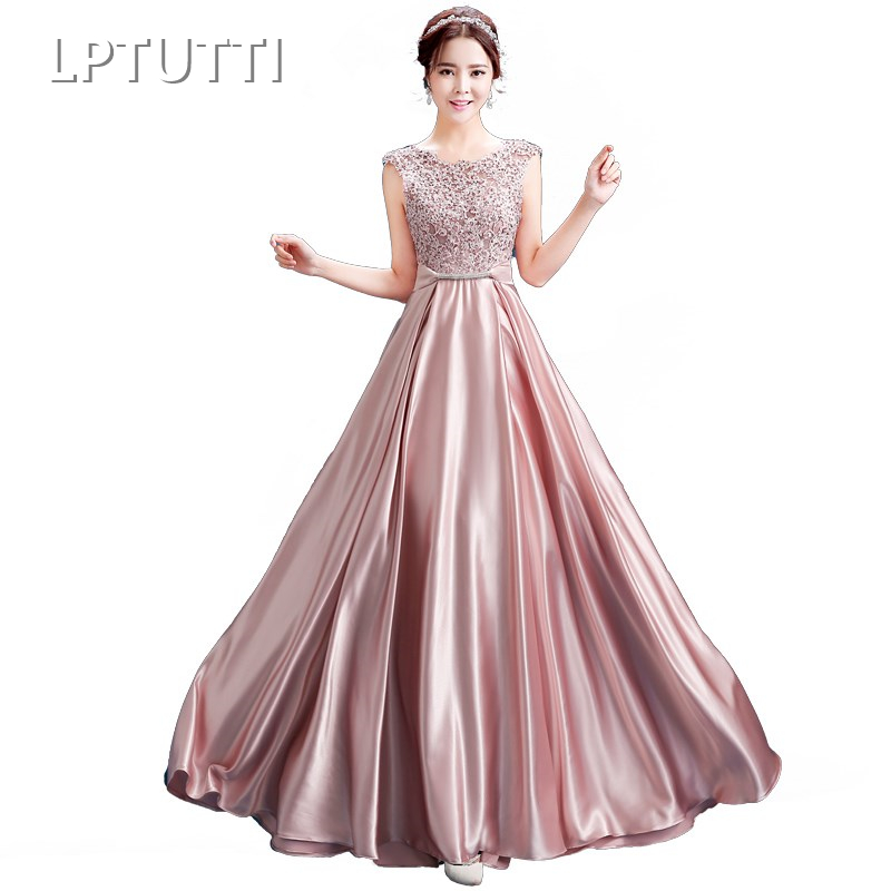 LPTUTTI Embroidery Lace Plus Size New For Women Elegant Date Ceremony Party Prom Gown Formal Gala