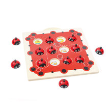 Wooden Ladybug Memory Training Matching Pair Toys Early Educational Checkerboard Interactive Game Chess Toys For Children Gifts