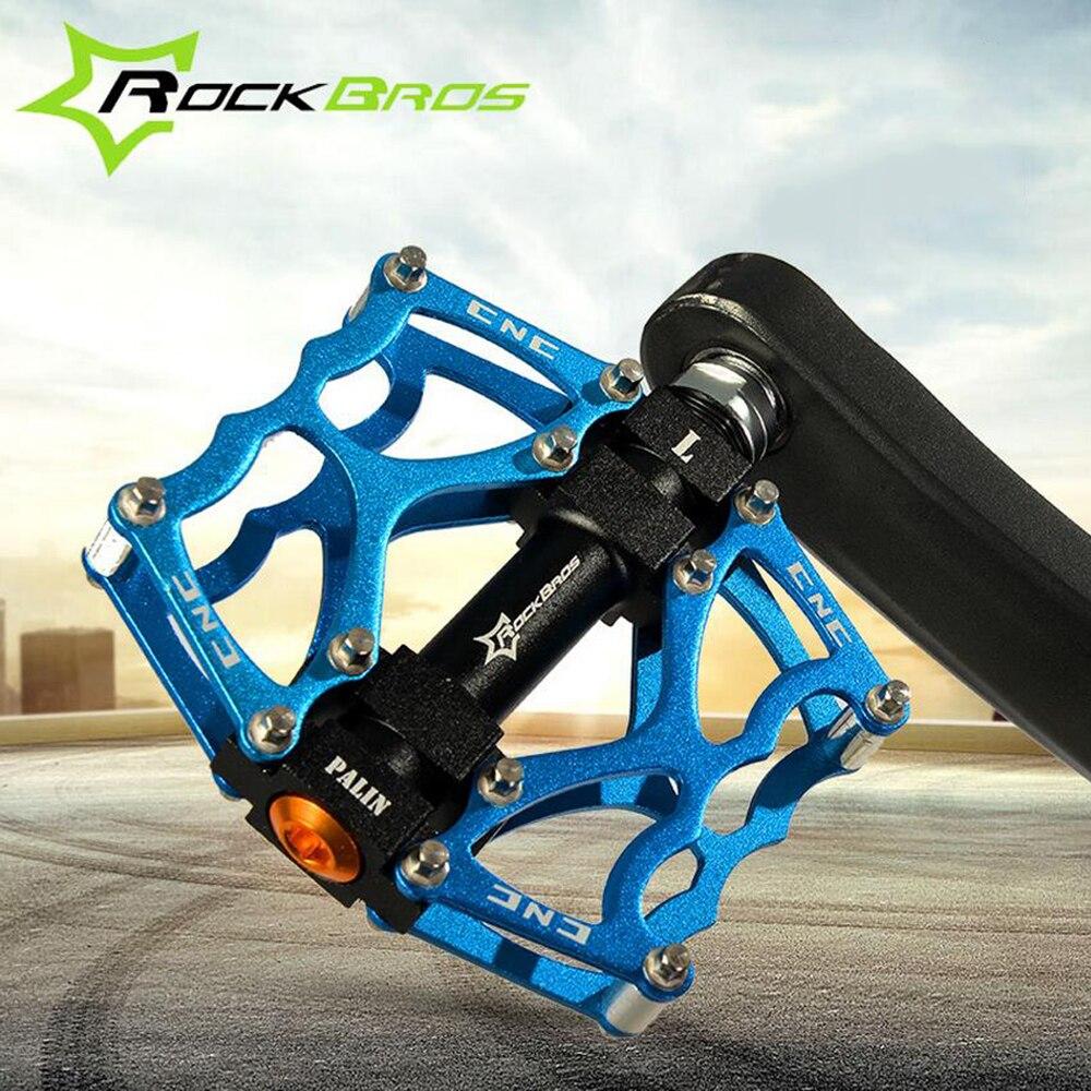 "RockBros Bike Pedals Golden MTB BMX DH Downhill Pedals Platform Pedals 9//16/"""