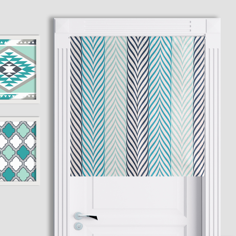 Gentil Nordic Style Mint Linen Door Curtain Geometric Fashion Green Kitchen  Curtains Chevron Turquoise Decorative Living Room Curtains  In Curtains  From Home ...
