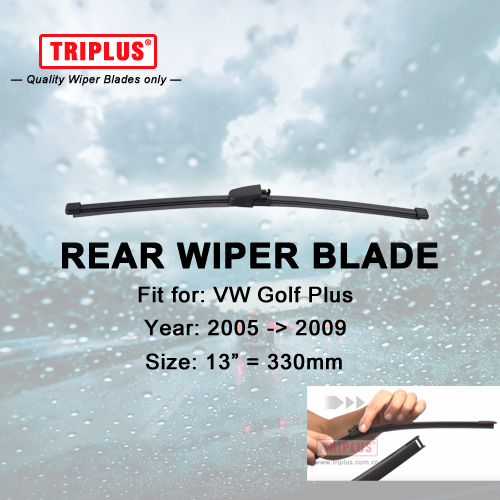 Rear Wiper Blade for VW Golf Plus (2005-2009) 1pc 13 330mm,Car Rear Windscreen Wipers,for Back Windshield Blades