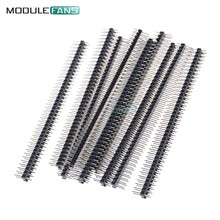 5PCS 2.54mm 2.54 mm 2 x 40 Pin Male Double Row Pin Header Strip Diy Electronic Diy Kit(China)