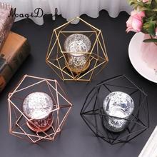 MagiDeal soporte de escritorio hexágono geométrico vela titular linterna caso candelabro caso hogar boda centro de mesa