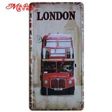 [ Mike86 ] London Bus Antique Bar Party decoration Retro Gift Craft Metal Tin signs D-366 Mix order 30*15 CM(China)