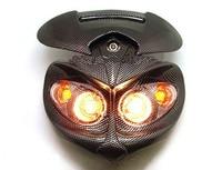 Head Light Fairing motorcycle street fighter look naked mx super moto smr carbon