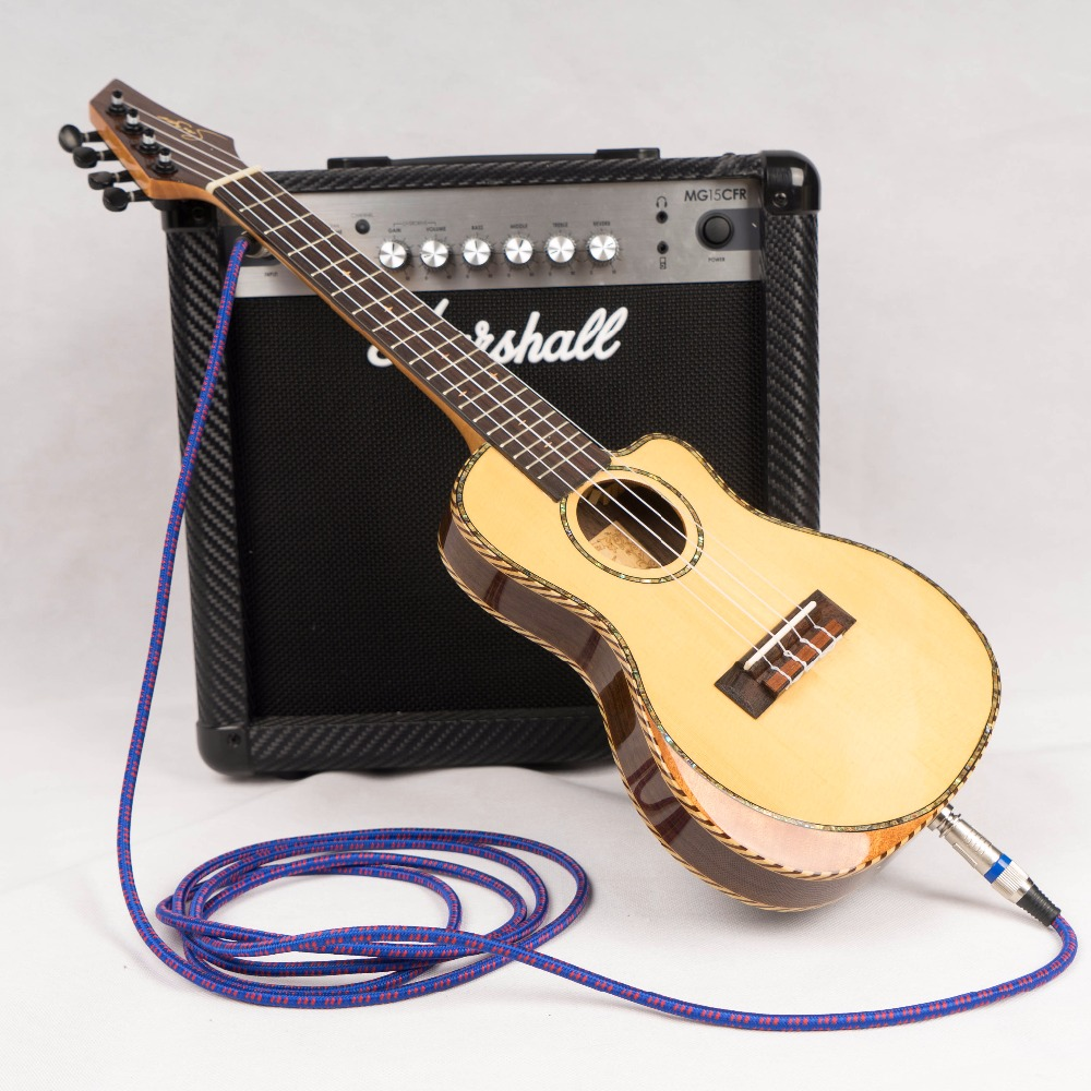 Ukulele Concert 23 Inch Cutaway Top Solid Acoustic Electric  Thin Body Mini Guitar 4 Strings Ukelele Picea Asperata Rosewood 12mm waterproof soprano concert ukulele bag case backpack 23 24 26 inch ukelele beige mini guitar accessories gig pu leather