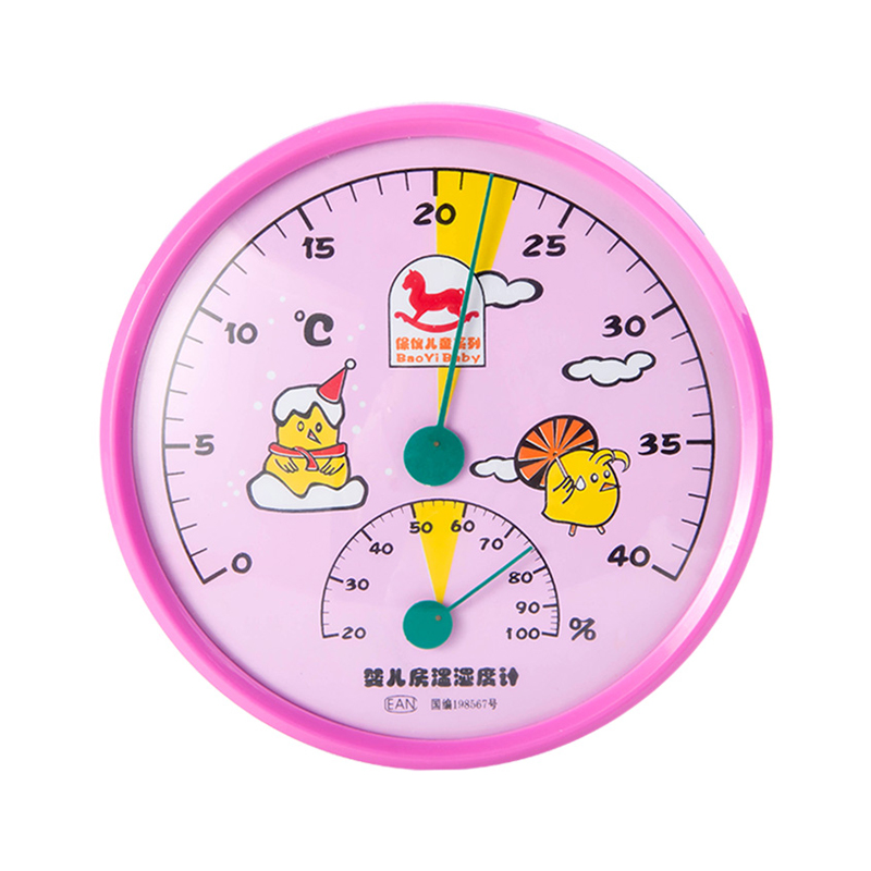 Wholesale Standard Lovely Baby Room Temperature Instruments Hygrometer Meter Wall Mounted Standing Humidity Meter Thermometer in Temperature Gauges from Home Garden
