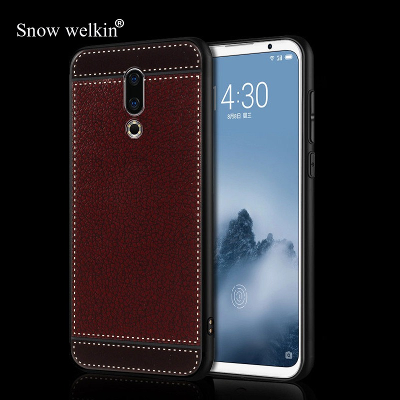Luxury Silicone <font><b>Case</b></font> For <font><b>Meizu</b></font> M5S M6 <font><b>M6T</b></font> M5c M6s M2 M3 M5 M6 Note Pro6 Pro7 16 Plus Soft <font><b>TPU</b></font> Litchi Leather Pattern Phone <font><b>Case</b></font> image