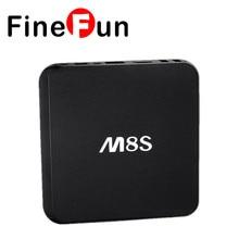FineFun M8S Android TV Box 2G/8G Dual band 2.4G/5G wifi Android4.4 Amlogic S812 Chip 4K KODI 16.0 Full HD 4K Smart tv HDD player
