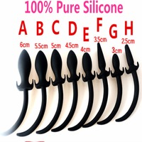 100 Pure Silicone Dog Tail Anal Butt Plug In Adult Games Anus Stimulation Expansion Tools Sex