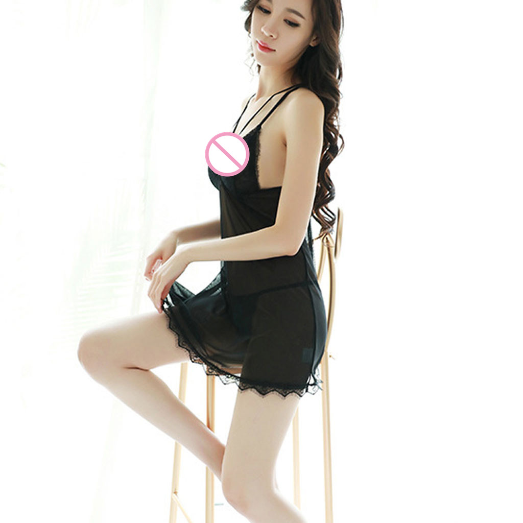 Sexy lingerie women erotic Pajamas underwear female babydoll Sleep <font><b>Dress</b></font> Halter Backless for <font><b>adults</b></font> Hot temptation <font><b>sex</b></font> shop H4 image