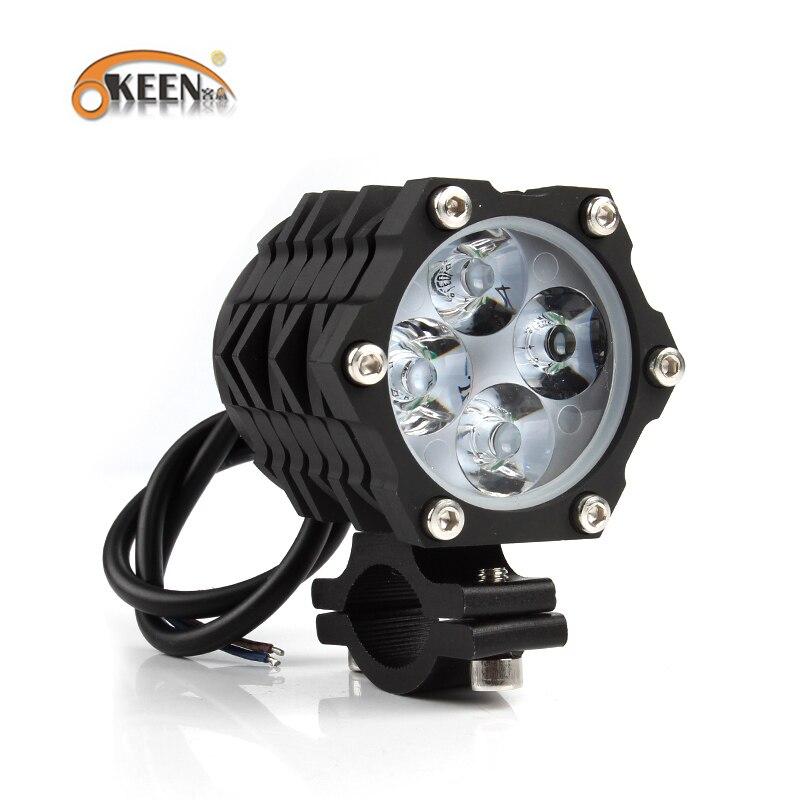 Okeen 2x 120w Motorcycle Led Headlight Spotlights High Low
