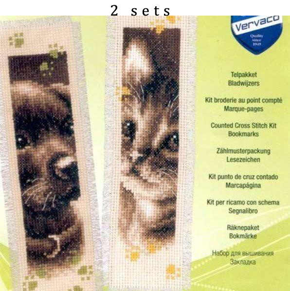 11/14/16/18/28 belle compté point de croix Kit signets signet marqueur de Magazine marqueur Pet chien chat Kitty chaton