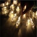 2016 Venda Quente 3 M Mini 20 clipe levou luzes da corda bateria das luzes De Natal de ano novo festa de casamento decoração da casa de fadas luzes