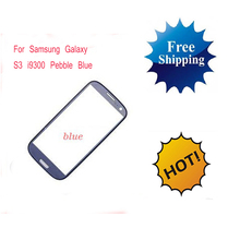 The wholesale price 20pcs/lot Pebbl-e Blue Touch Screen Outer Glass Lens For Samsung Galaxy S3 SIII i9300 Replacement Free Ship