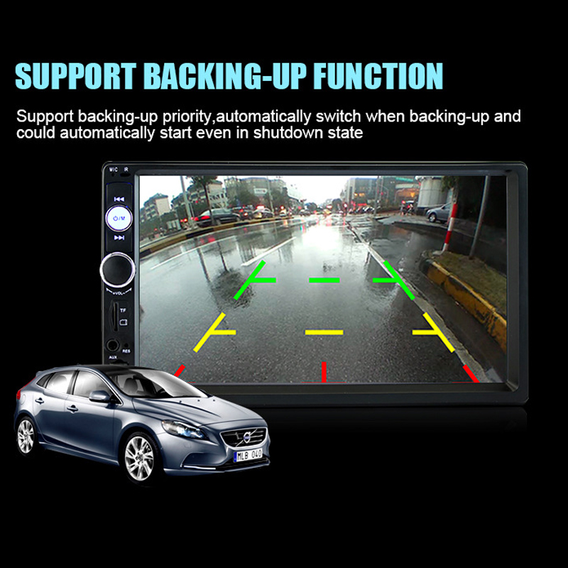 2018 Auto Parts 7 Inch Double Spindle Vehicle MP5 Plug-in Machine MP4 Car Player Support Bluetooth Voice Back Priority Display hopkins 40215 plug in simple vehicle wiring kit