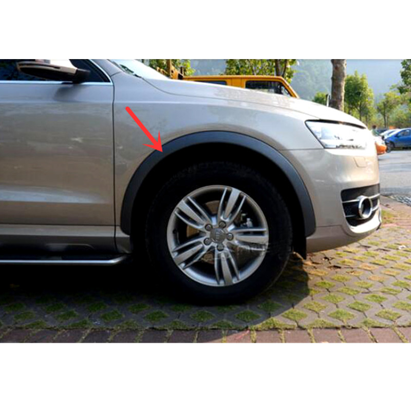 ᐃstyling Mobil 4 Pcs Plastik Set Wheel Arch Fender Flares Sampul Potong Untuk Audi Q3 2012 2015