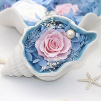 Shell Soap Flower Gift Box Fishtail S925 Necklace Lady Girl Mom Birthday Gift Mother's Day present Customized blessing