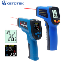Non Contact Laser IR Infrared Thermometer Digital C/F Selection Single/Double laser Pyrometer Imager LCD Temperature Meter