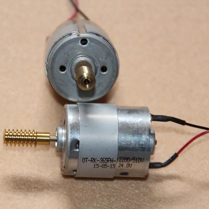 OT-RK-365PH Micro Motor DC 24V 80mA 17000 rpm DC Motor with Copper Worm / Guide Wire Shaft Diameter 2mm Worm Length: 17.5mm