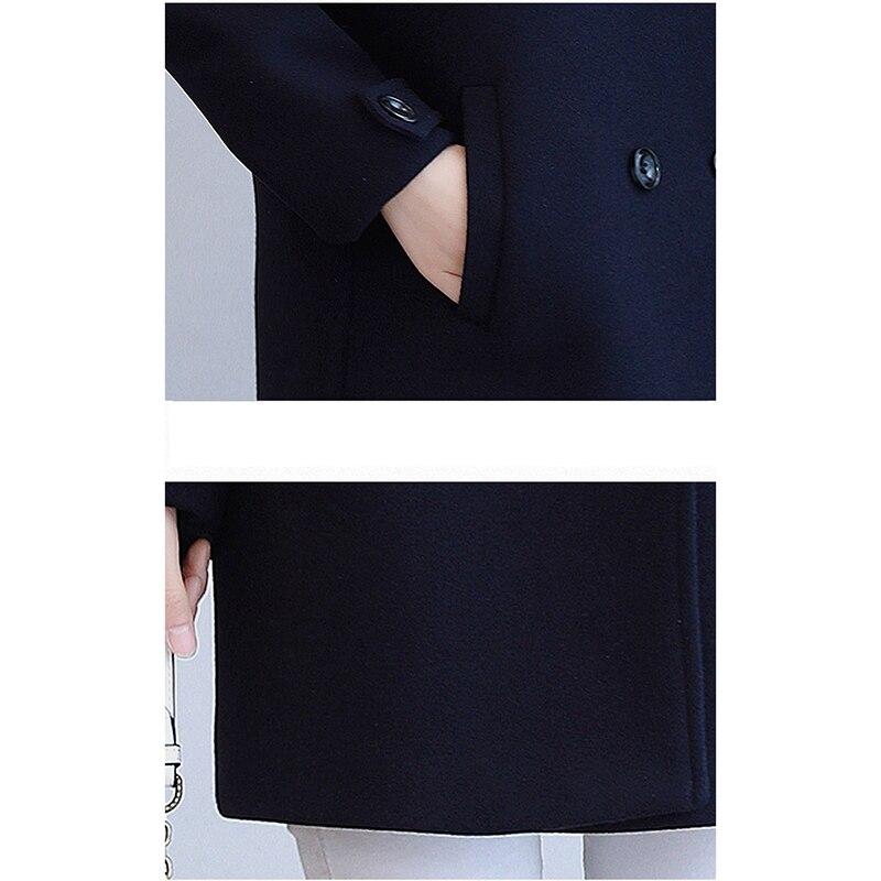 Long 2019 Grande Blue En Court Manteau Automne Nizi Mode Laine Boutonnage Hiver Double Odfvebx navy Coffee Femmes Moyen Fine Lâche Taille Nouveau vqf8wXn