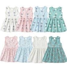 04608edfb5cc9 1-7 سنوات فتيات صغيرات يتدربن على المشي زهرة فساتين الصيف فتاة الأميرة  الأبيض اللباس الاطفال ملابس الأطفال ملابس عيد الوردي الأز.