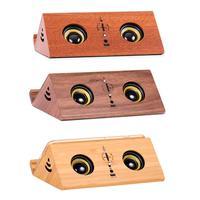 Innovative Wooden Intelligent Bluetooth Mini Charging Portable Retro Wireless Speaker 2 channel Stereo High Quality Loudspeaker