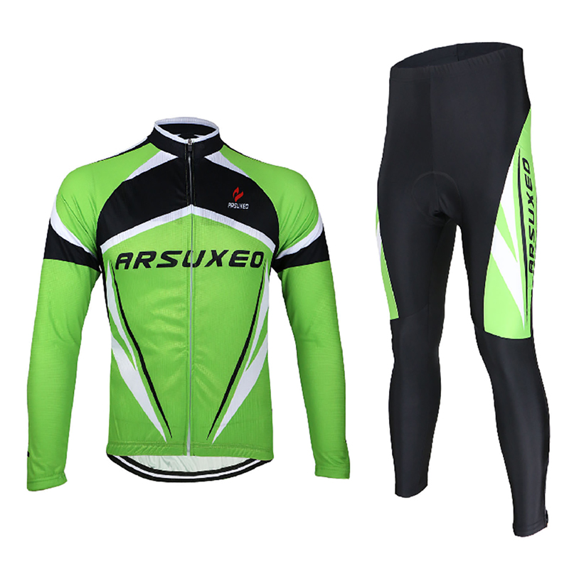 Quick Dry Men Cycling Jersey Set Breathable MTB Bike Clothing Long Sleeves Bicycle Clothes Invierno Ropa Ciclismo Suits