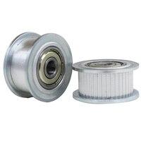 2GT 50 зубов синхронное колесо натяжной шкив 5/6/8/10/12/15 мм диаметр 11 мм ширина с подшипником для GT2 зубчатый ремень