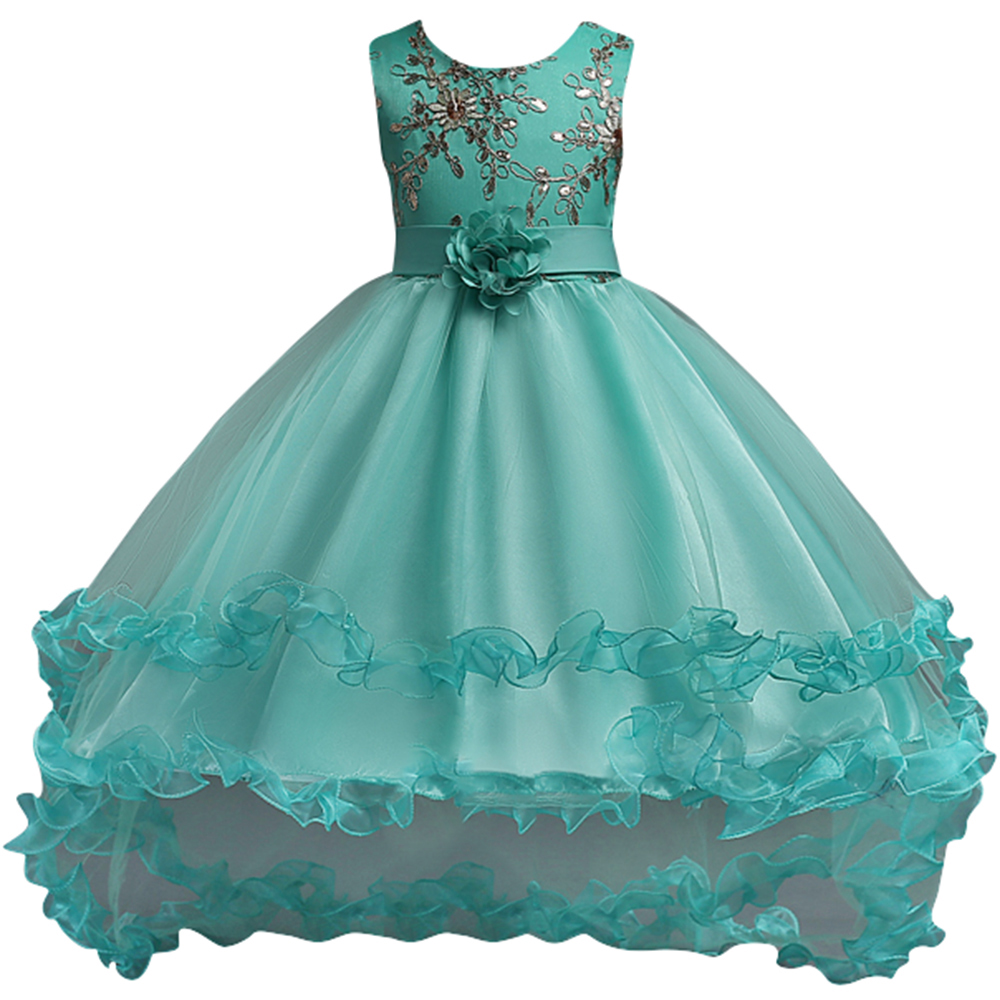 Aliexpress Buy Vestido Daminha Princess Tiffany Blue Flower