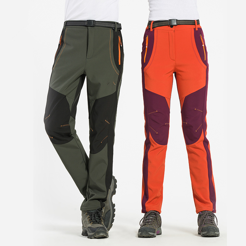 Prix pour La nouvelle automne et d'hiver sports de plein air hommes et femmes soft shell pantalon Pantalon chaud et imperméable coupe-vent ski S-4XL