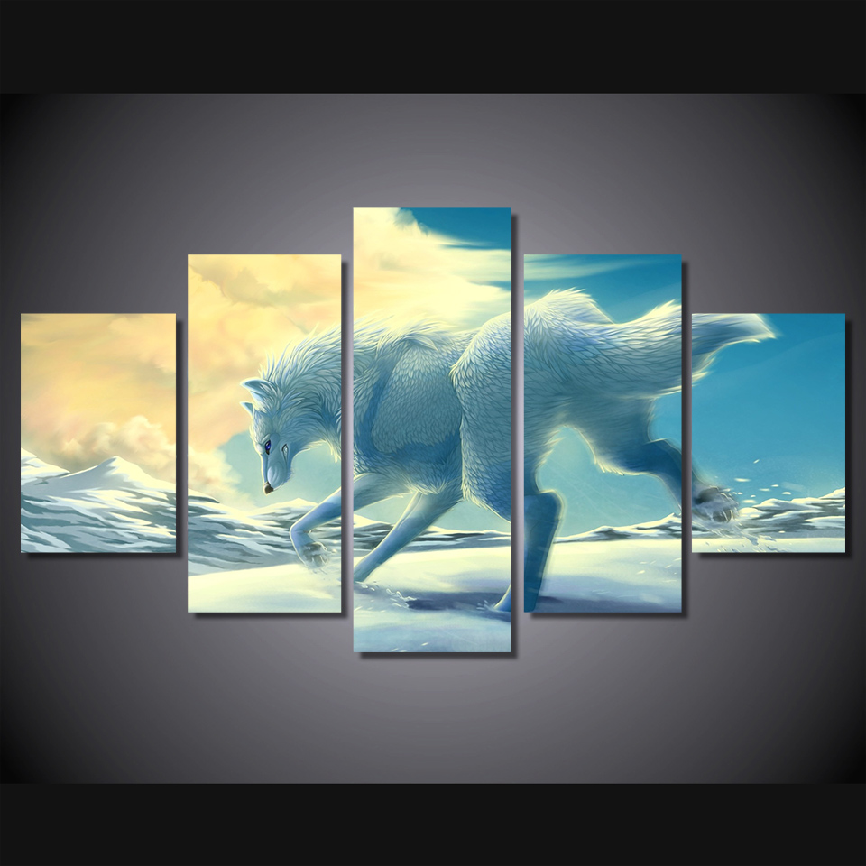 online get cheap posters running aliexpress com alibaba group home decor poster animals running in the snow canvas painting unframed modular pictures top rated