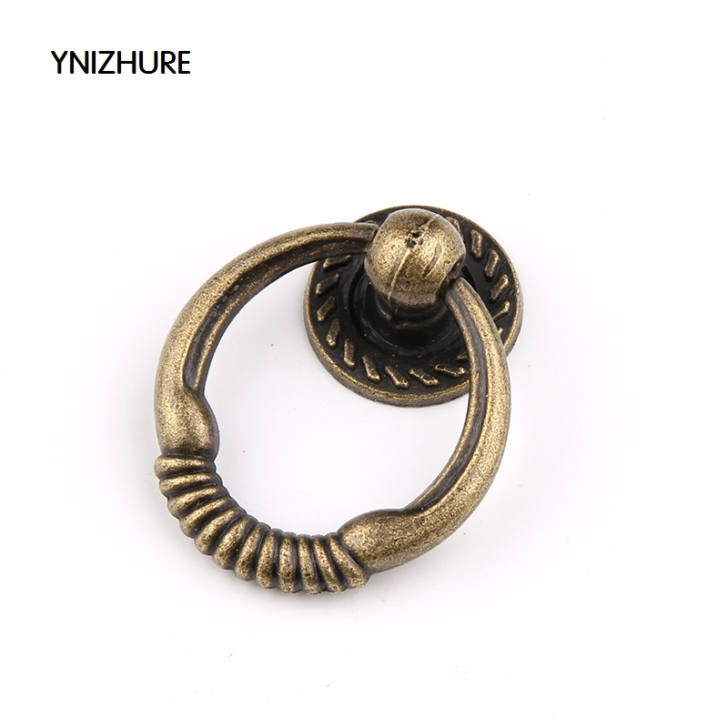 10Pcs Knob Drawer Knobs Pulls Handles Rings Antique Bronze / Kitchen Cabinet Knobs / Vintage Style Furniture Knobs Hardware claw of dragon style rings golden bronze 3 pcs