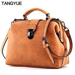 TANGYUE Handbags Women's Bag Shoulder Female Luxury Matte Leather Messenger Bag Women's Crossbody Ladies Hand Bags for Women sac
