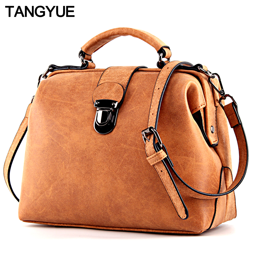 TANGYUE Handbags Women's Bag Shoulder Female Luxury Matte Leather Messenger