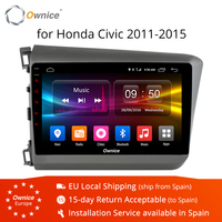 Ownice K1 K2 Android 8.1 Eight Octa Core 2GB RAM For HONDA CIVIC 2011 2015 Car Radio Navi GPS player Support dvd DAB+ 4G