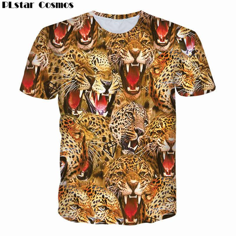 569f01d9b3776 Plstar Космос брендовая одежда белый тигр/леопардовая расцветка 3D футболка  женская и мужская футболка Homme