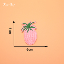 50pcs/lot Cute Cartoon Pink Pineapple Sew On Embroidered Appliques DIY Apparel Accessories Patches For Clothing Badges SC3368