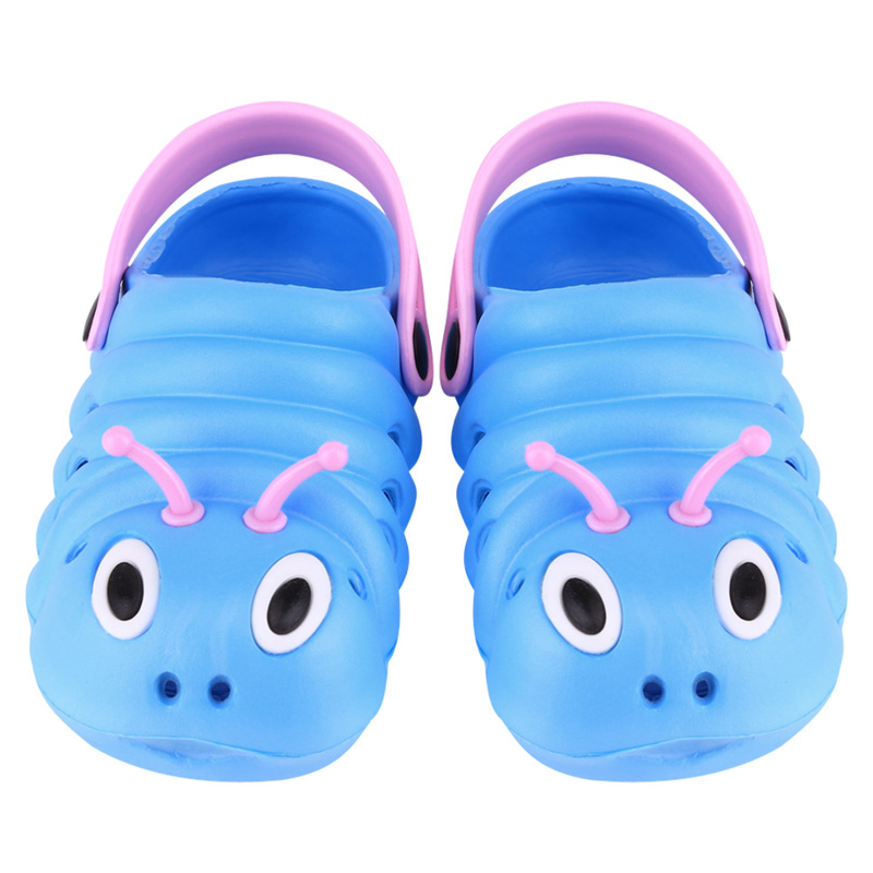 2017 Summer Boys Girls Sandals Shoes Caterpillar Anmial Cartoon Style Children Baby Shoes Child Slipper Breathable 1-6 Years