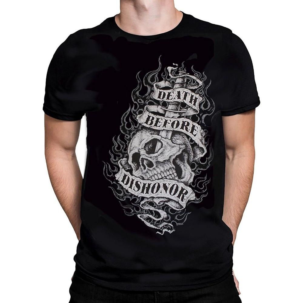 Custom T Shirts Cheap Office Death Before Dishonor Mens T Shirt