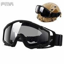 FMA Helmet Goggles Tactical Airsoft Ballistic Anti-Fog Goggl
