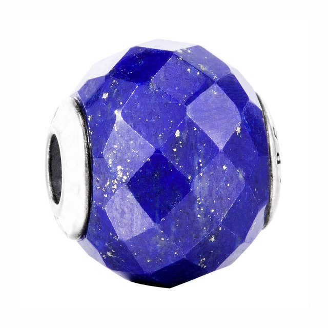 cd72ccd02 Top Quality 925 Sterling Silver Bead Charm Peace With Faceted Lapis Lazuli  Beads Fit Pandora ESSENCE Bracelet Diy Jewelry