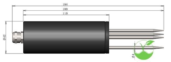 Soil moisture sensor / moisture content / moisture content (RS485 / 232,4 20mA / 0 2.5V) - 3