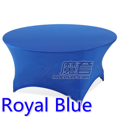 Spandex Table Cover Royal Blue Round Lycra Stretch Table