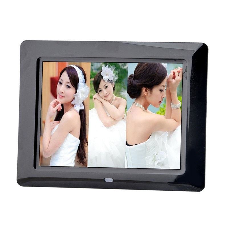 2016 Black 4:3 Widescreeen 8 Inch 800*600 Resolution Digital Wedding Photo Frame Albums ,Frame Electronic Cadre Photo Numerique 8 4 8 inch industrial control lcd monitor vga dvi interface metal shell open frame non touch screen 800 600 4 3